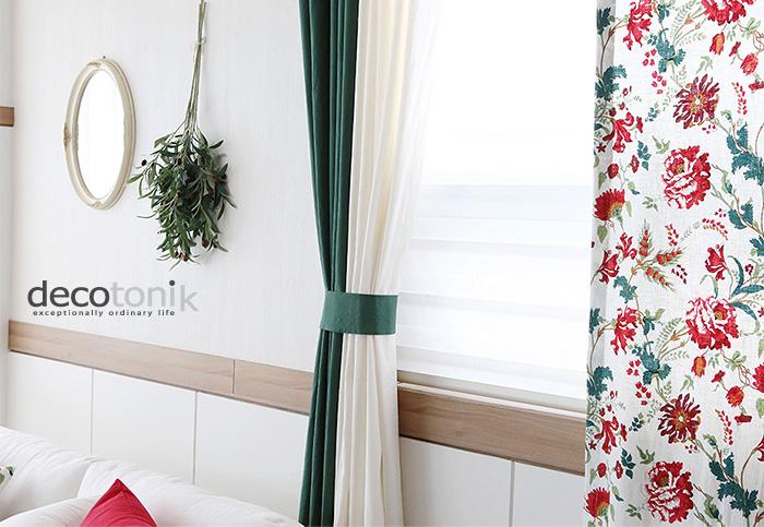 로제트 린넨커튼(총125x230cm) (디자인3종) - 데코토닉, 62,000원, 일반커튼, 러블리/플라워