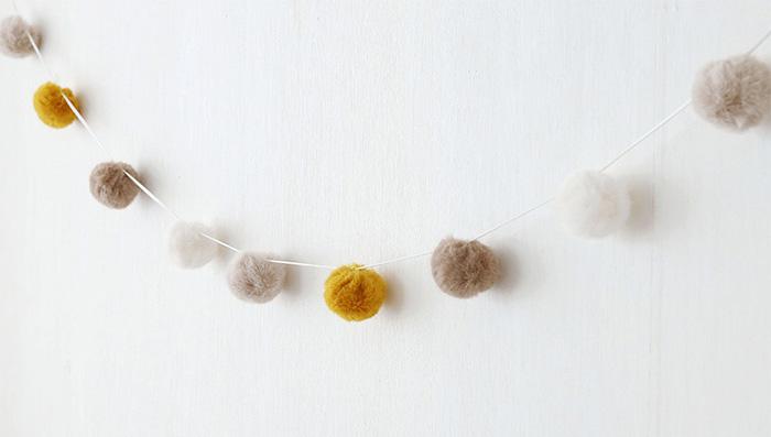 코지 폼폼 가렌드(컬러4종) - 데코토닉, 15,000원, 장식/부자재, 벽장식